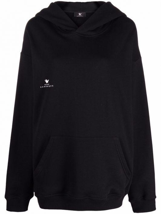 Maison Bohemique chest logo-print hoodie - Schwarz