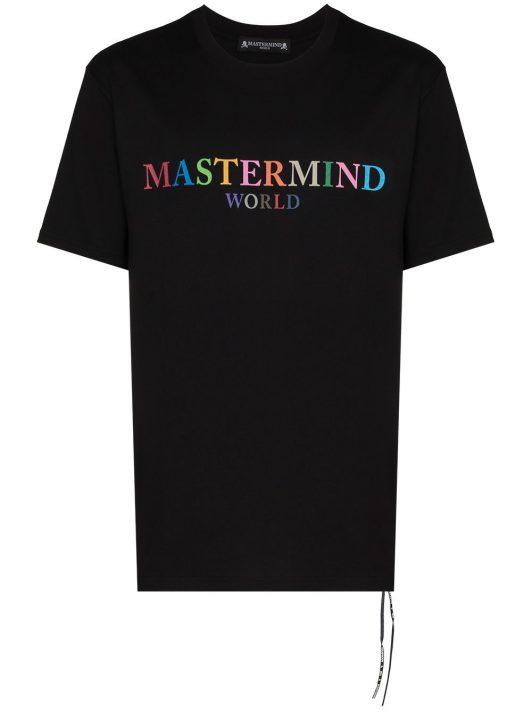 Mastermind World T-Shirt mit buntem Logo - Schwarz