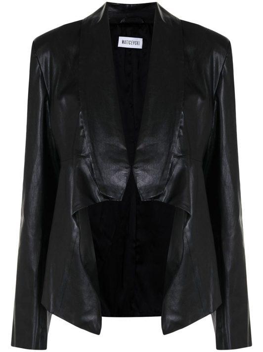 Maticevski open-front leather blazer - Schwarz