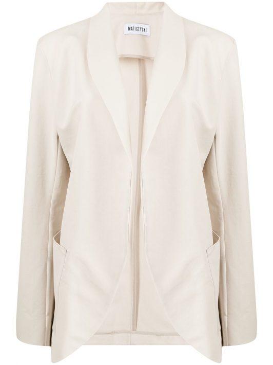 Maticevski shawl-lapels cotton blazer - Weiß