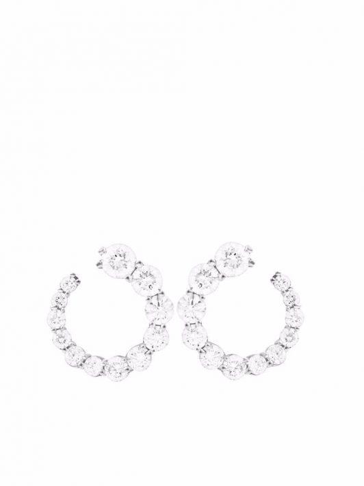 Melissa Kaye 18kt Aria Weißgoldohrstecker mit Diamanten - Silber