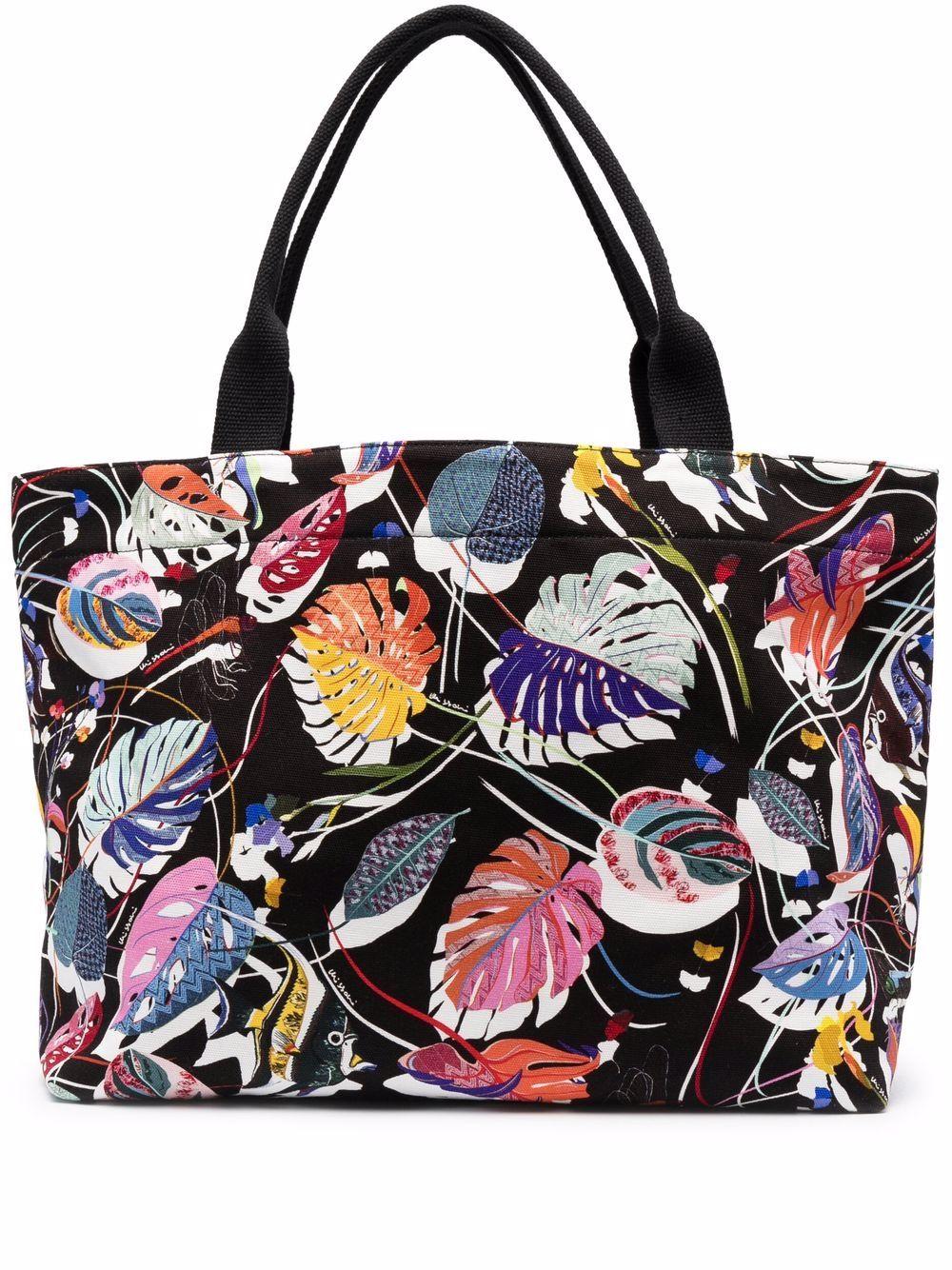 Missoni Handtasche mit Blätter-Print - Schwarz