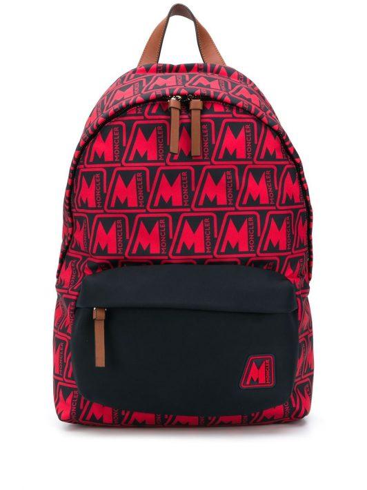 Moncler 'Pierrick' Rucksack mit Logos - Rot