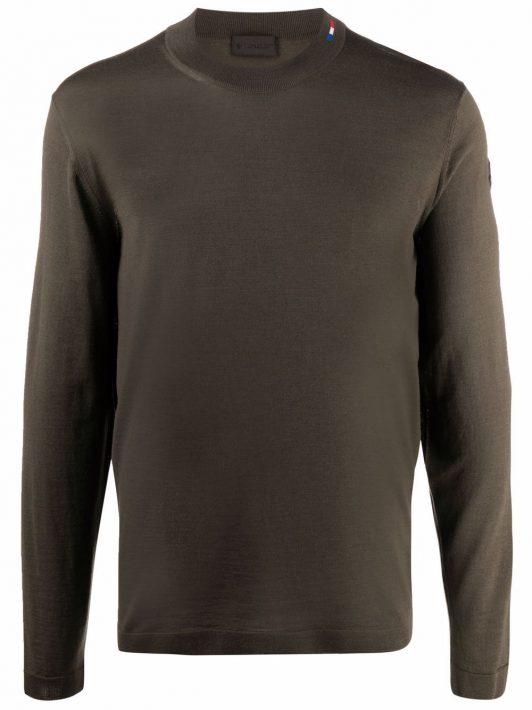 Moncler Pullover mit Rundhalsausschnitt - Grün