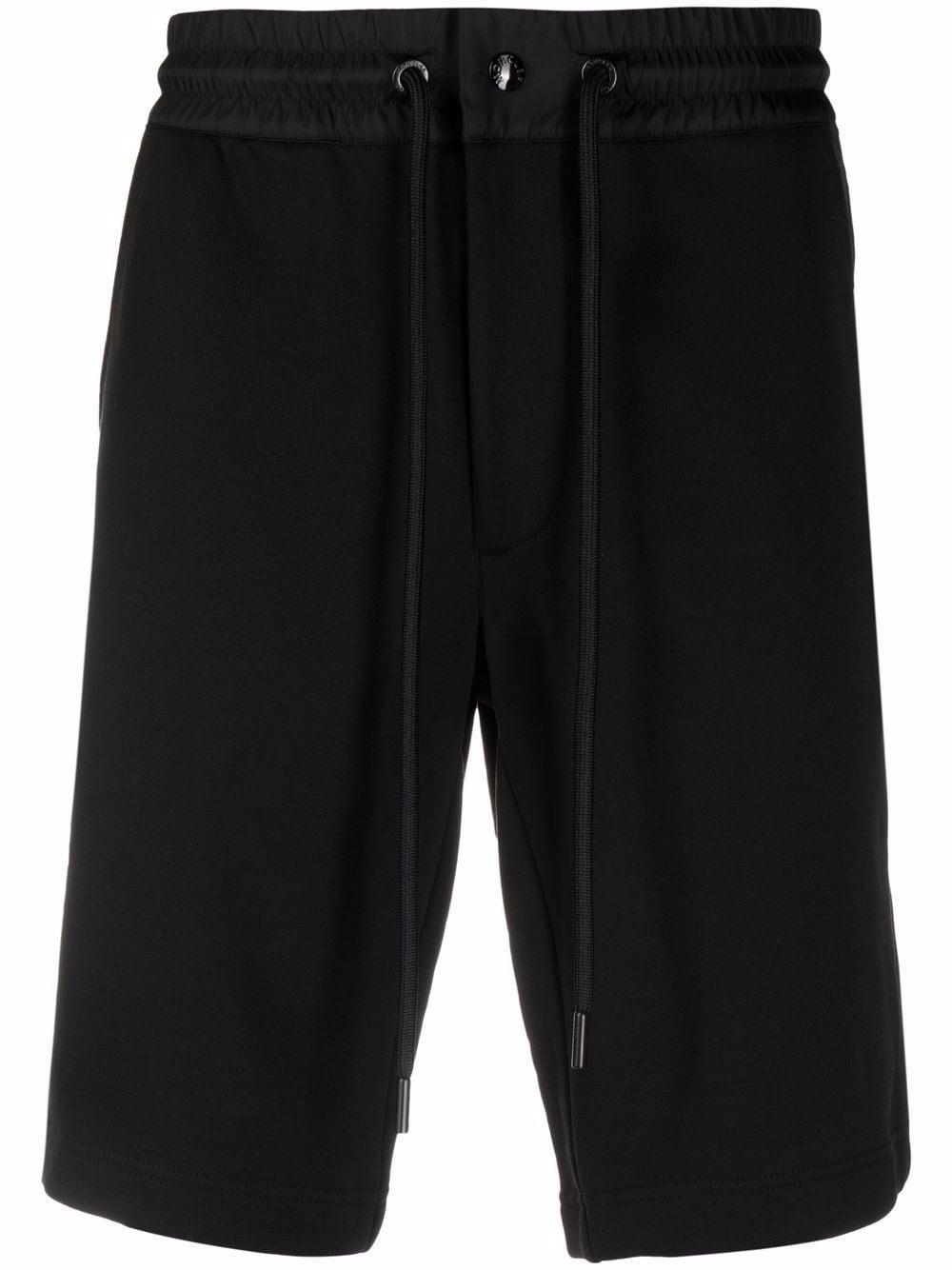 Moncler Shorts mit seitlichem Streifen - Schwarz