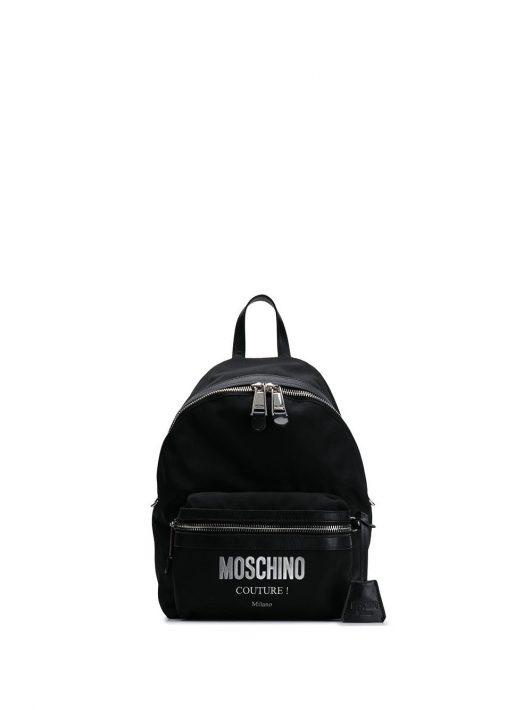 Moschino Rucksack mit Logo-Applikation - Schwarz