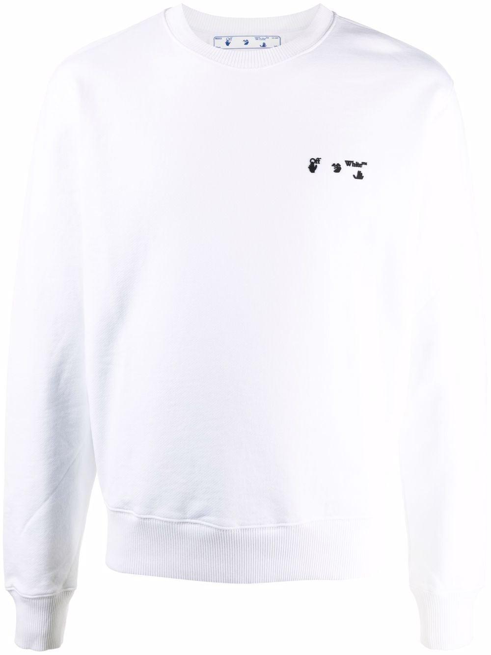 Off-White Hands Off logo sweatshirt - Weiß