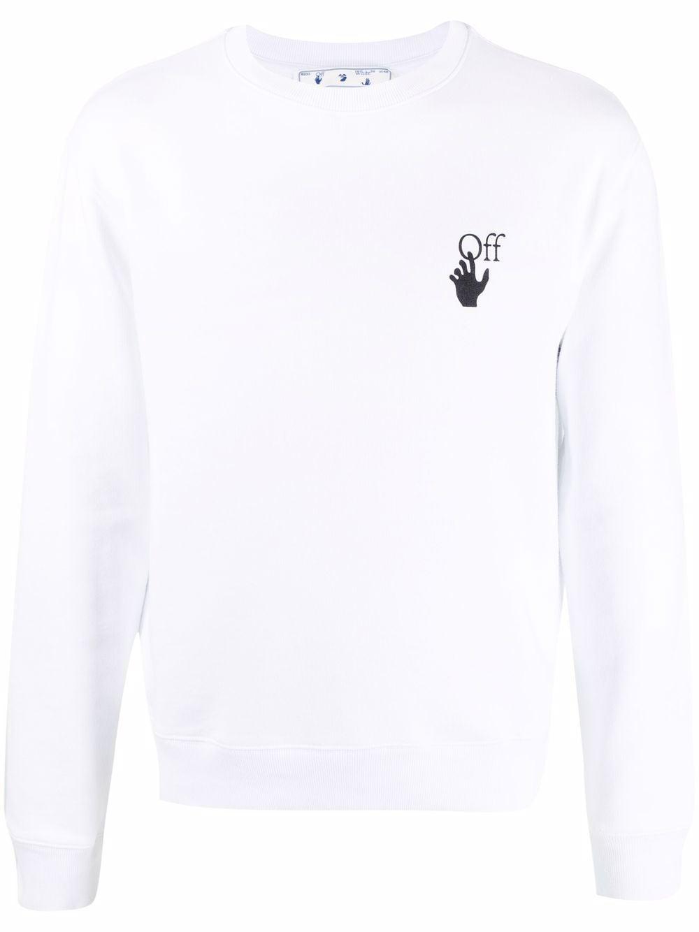 Off-White Sweatshirt mit Degrade Arrows-Motiv - Weiß