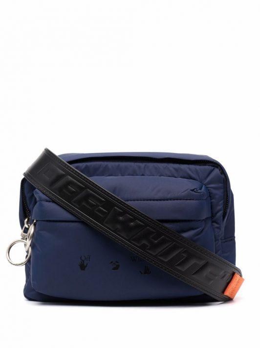 Off-White logo-print belt bag - Blau