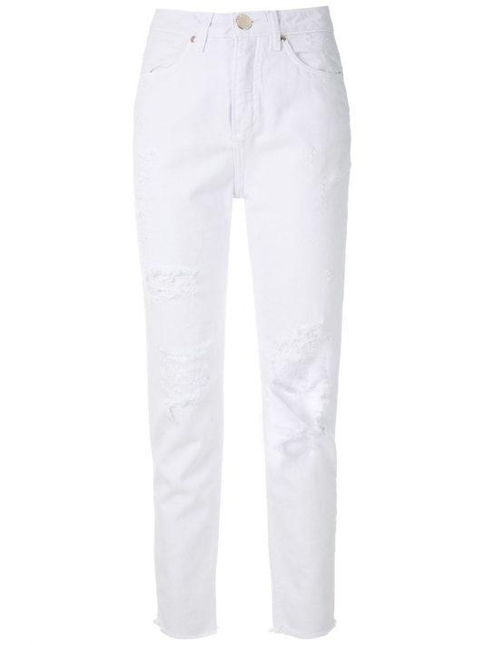 Olympiah Jeans im Distressed-Look - Weiß