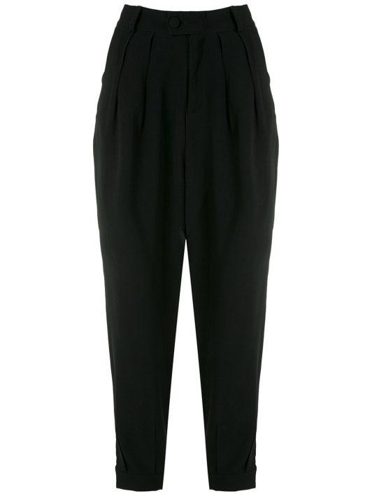 Olympiah 'Luyne' Hose mit Bundfalten - Schwarz