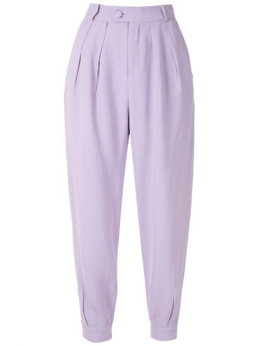 Olympiah 'Luyne' Hose mit Bundfalten - Violett