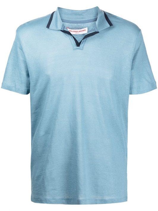Orlebar Brown Felix Poloshirt aus Leinen - Blau