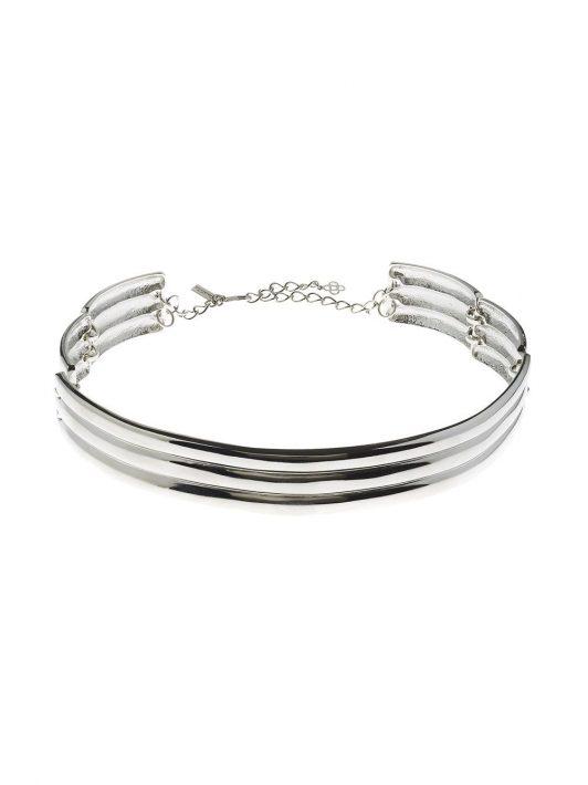 Oscar de la Renta Halskette mit Streifen - Silber