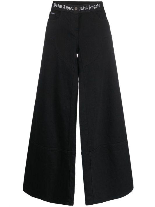 Palm Angels Jeans mit weitem Bein - Schwarz