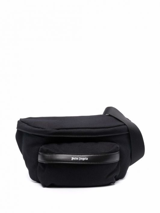 Palm Angels logo-print belt bag - Schwarz