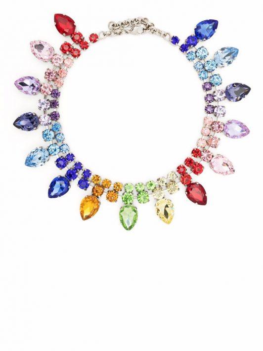 Philipp Plein Halskette mit Kristallen - Blau