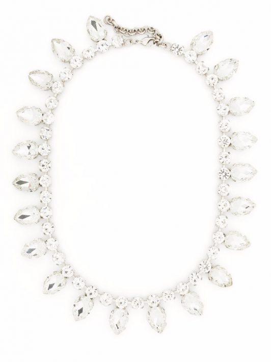 Philipp Plein Halskette mit Kristallen - Silber