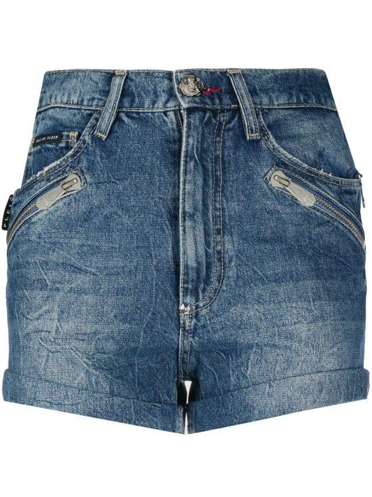Philipp Plein Shorts mit Taschen - Blau