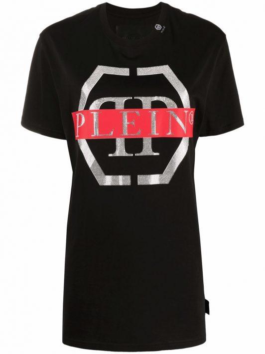 Philipp Plein T-Shirt mit Logo-Print - Schwarz