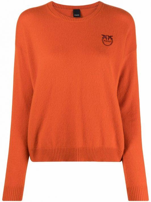 Pinko Bestickter Pullover - Orange