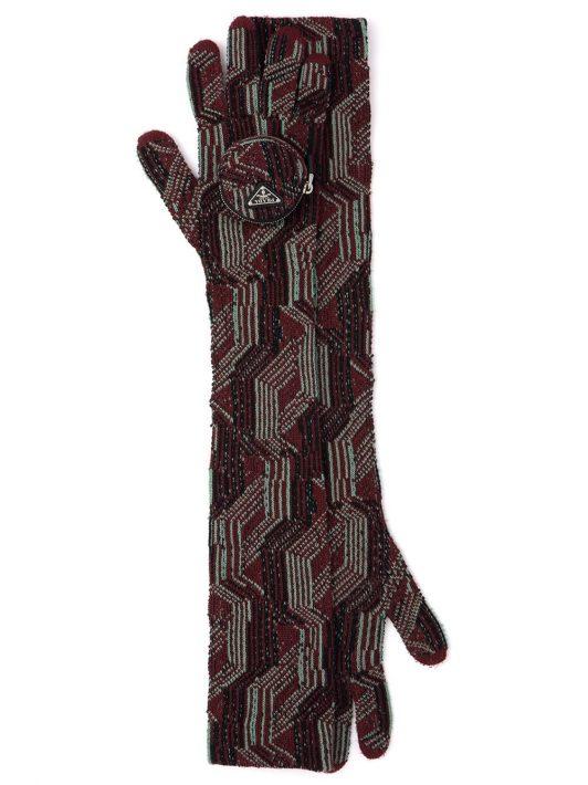 Prada Handschuhe aus Wolle - Rot
