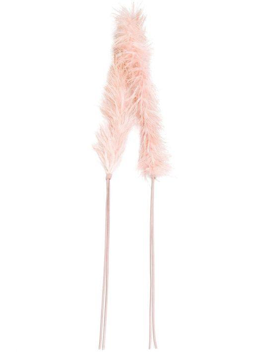 Prada 'Marabou' Gürtel mit Federbesatz - Rosa