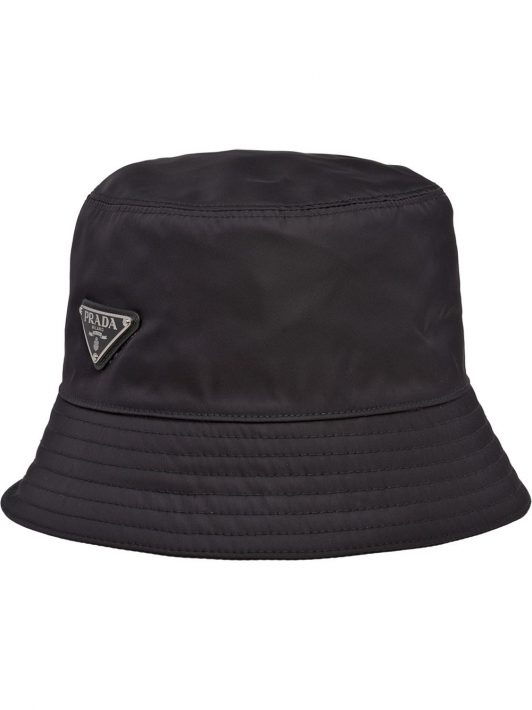 Prada Re-Nylon logo bucket hat - Schwarz