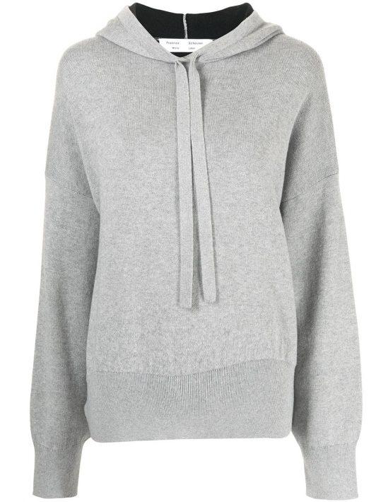 Proenza Schouler White Label Hoodie mit tiefen Schultern - Grau