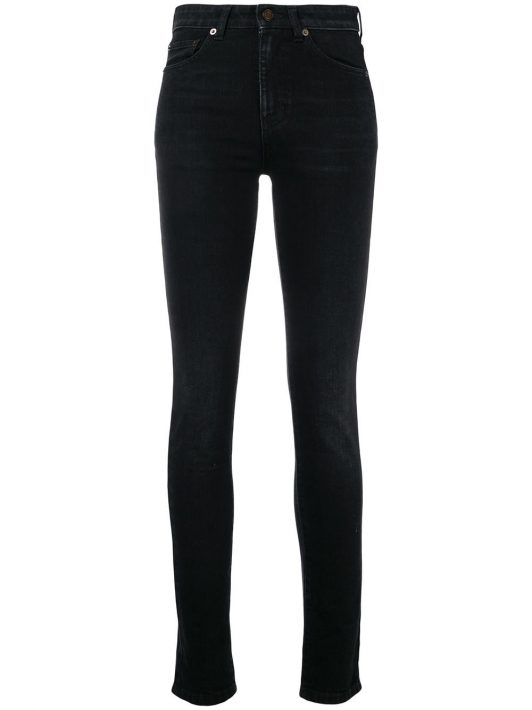 Saint Laurent Klassische Skinny-Jeans - Schwarz