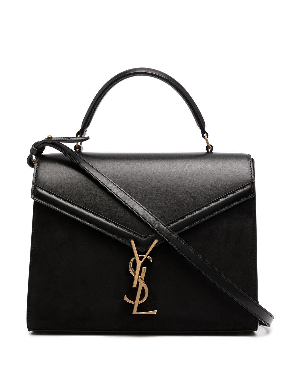 Saint Laurent Mittelgroße Cassandra Handtasche - Schwarz