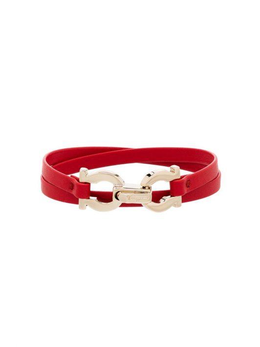 Salvatore Ferragamo Armband aus Leder - Rot