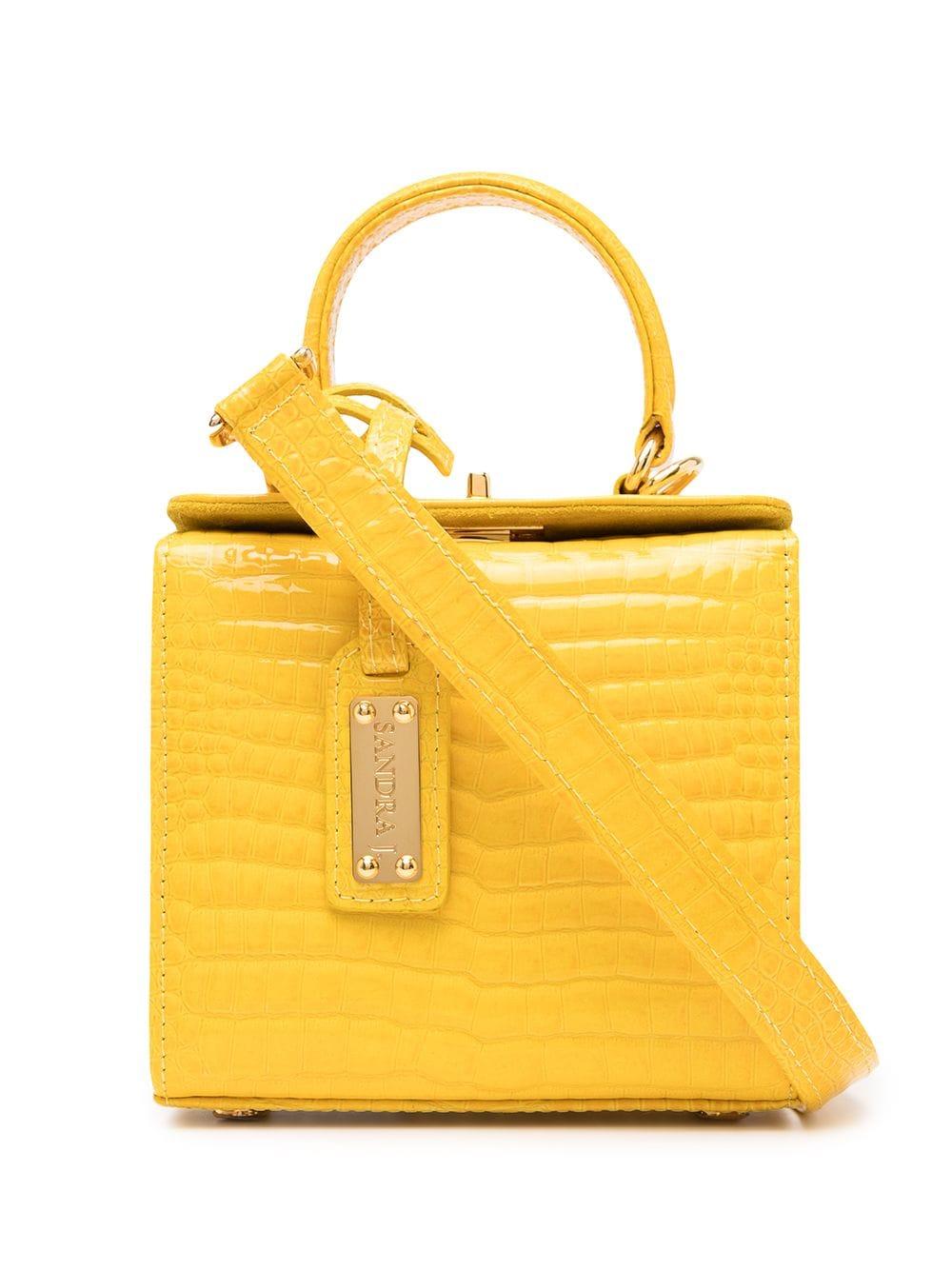 Sandra J Handtasche mit Kroko-Effekt - Gelb