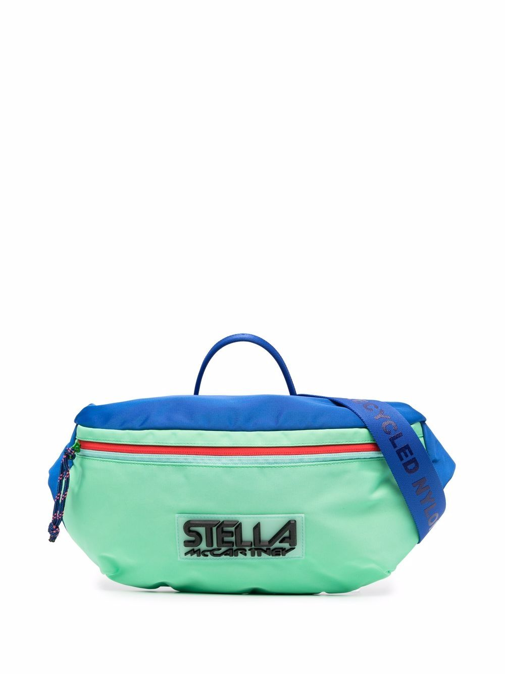 Stella McCartney logo colour-block belt bag - Blau