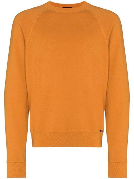 TOM FORD crew-neck cotton sweatshirt - Orange