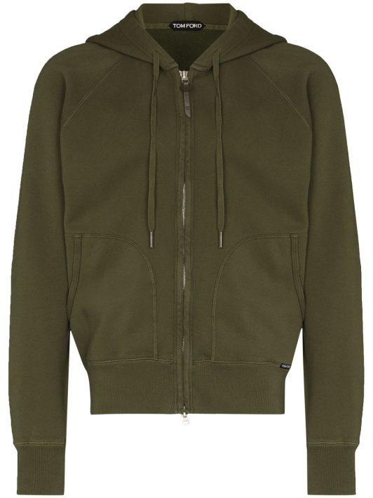 TOM FORD vintage dyed zip hoodie - Grün