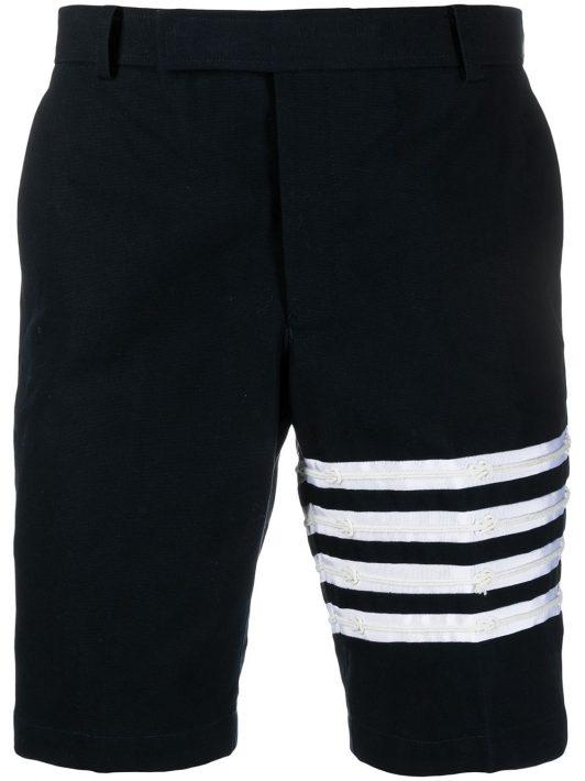 Thom Browne Chino-Shorts mit Streifen - Blau
