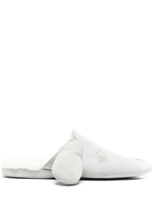 Thom Browne Hector Slipper mit Shearling-Futter - Nude