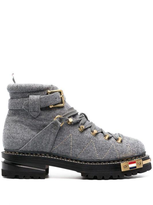 Thom Browne Hiking-Boots mit Obermaterial aus Filz - Grau