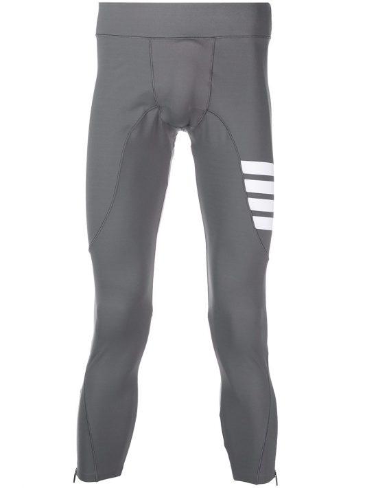 Thom Browne Kompressions-Leggings mit Streifen - Grau