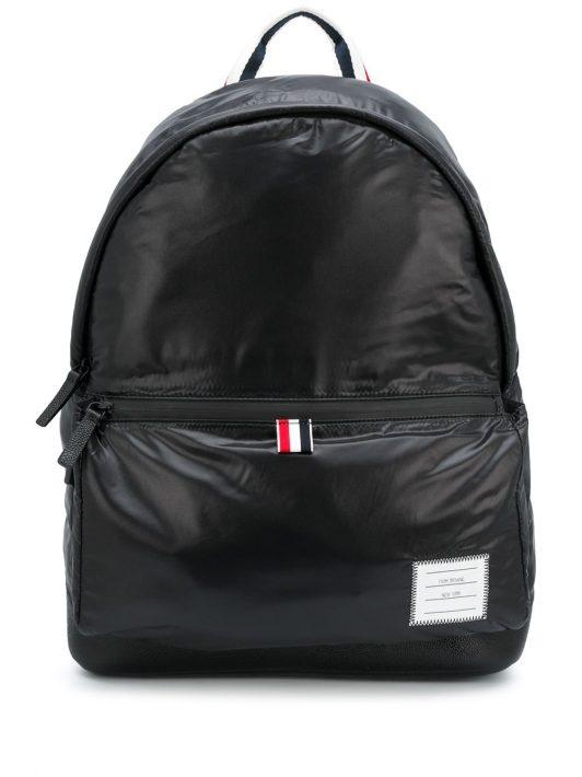 Thom Browne Oversized-Rucksack mit Reißverschluss - Schwarz