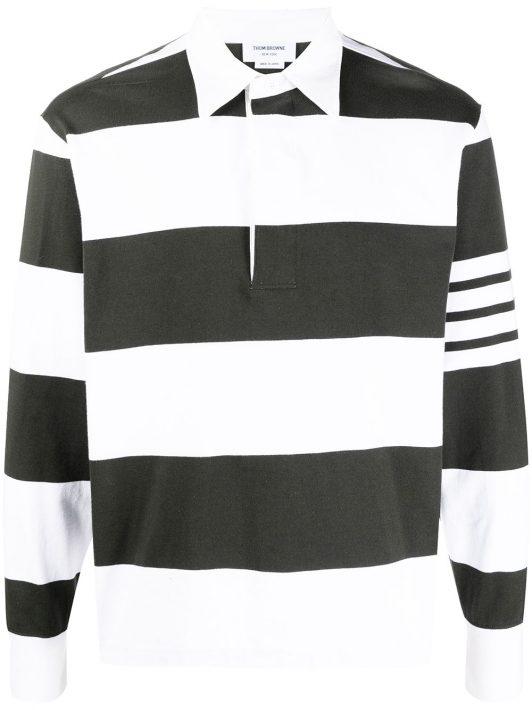 Thom Browne Poloshirt mit Logo-Streifen - Grün
