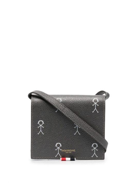 Thom Browne Portemonnaie mit Schulterriemen - Grau