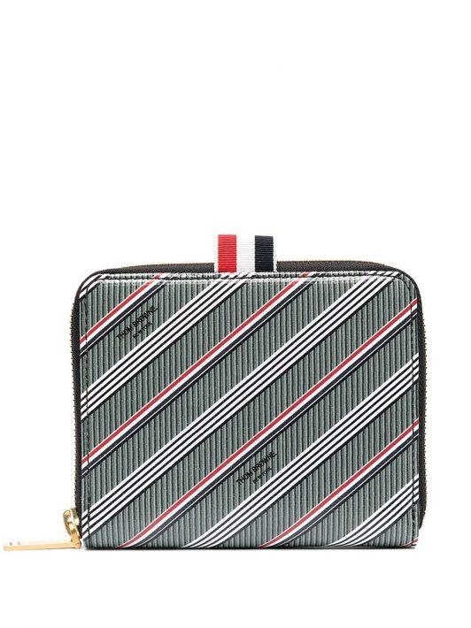 Thom Browne Portemonnaie mit Streifen - Grau