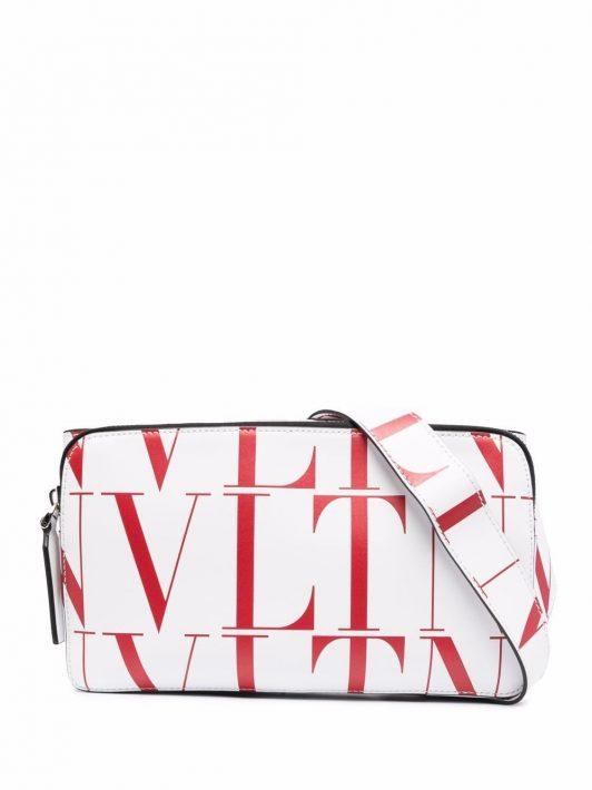 Valentino Garavani VLTN-print belt bag - Weiß
