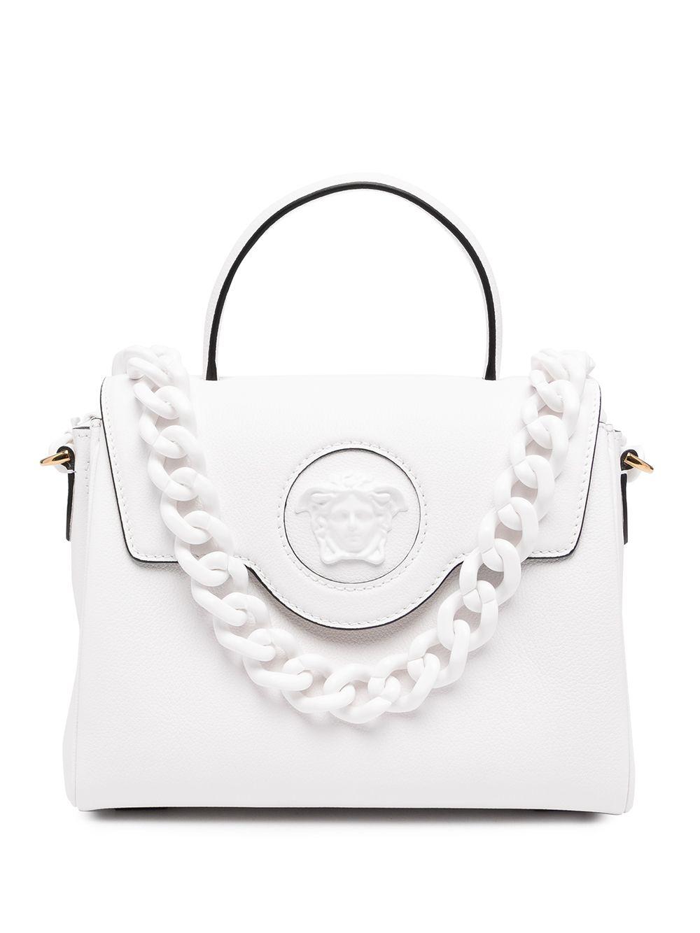 Versace Handtasche mit Medusa - Weiß