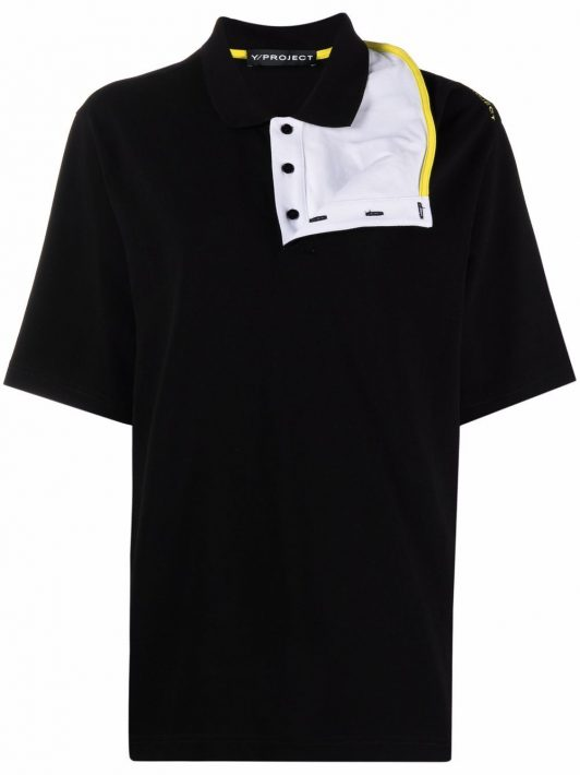 Y/Project reconstructed polo shirt - Schwarz