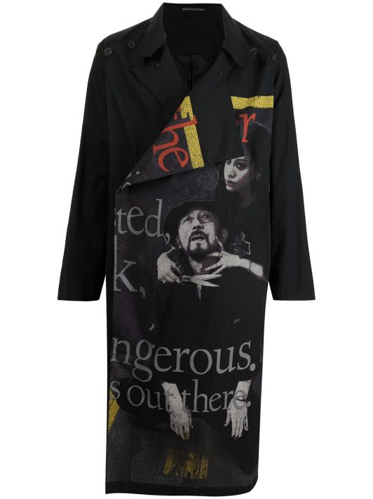 Yohji Yamamoto off-centre front coat - Schwarz