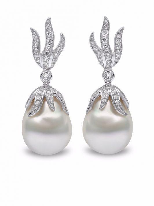 Yoko London 18kt Weißgoldohrringe mit Diamanten - Silber
