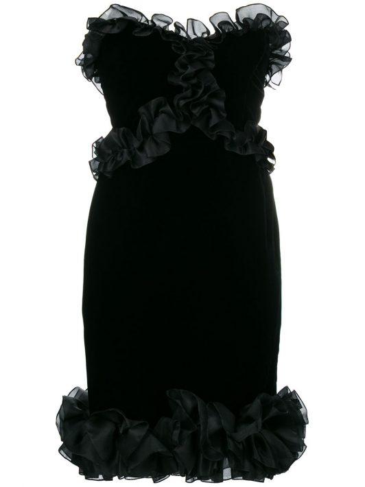 Yves Saint Laurent Pre-Owned Kleid mit schmalem Schnitt - Schwarz